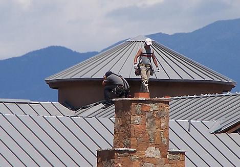 Brian McPartlon Roofing crew in Santa Fe, New Mexico