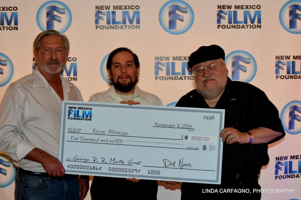 Kevin Atkinson with George RR Martin and Dirk Norris, New Mexico Film Foundation